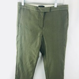 J. Crew Size 8 cotton blend olive green crop pants